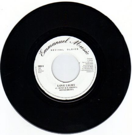 Dennis Brown - Love Light / version (Emmmanuel Music) UK 7""